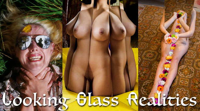 Female nudes reflected in mirrors